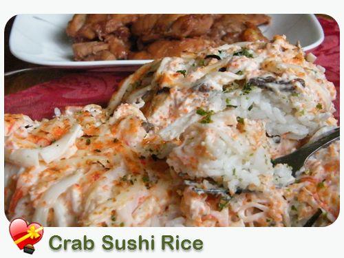Crab Sushi Rice - ILoveHawaiianFoodRecipes
