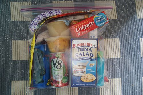 blessing bags: fill ziplock baggies with non-perishable snacks, toiletries, and other necessities, and keep them in your car or in your purse to hand out to the homeless.