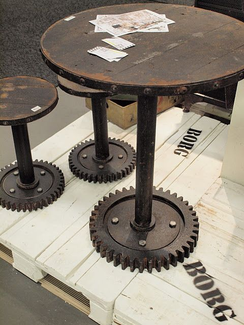 Bad Ass table and stools for garage or patio!