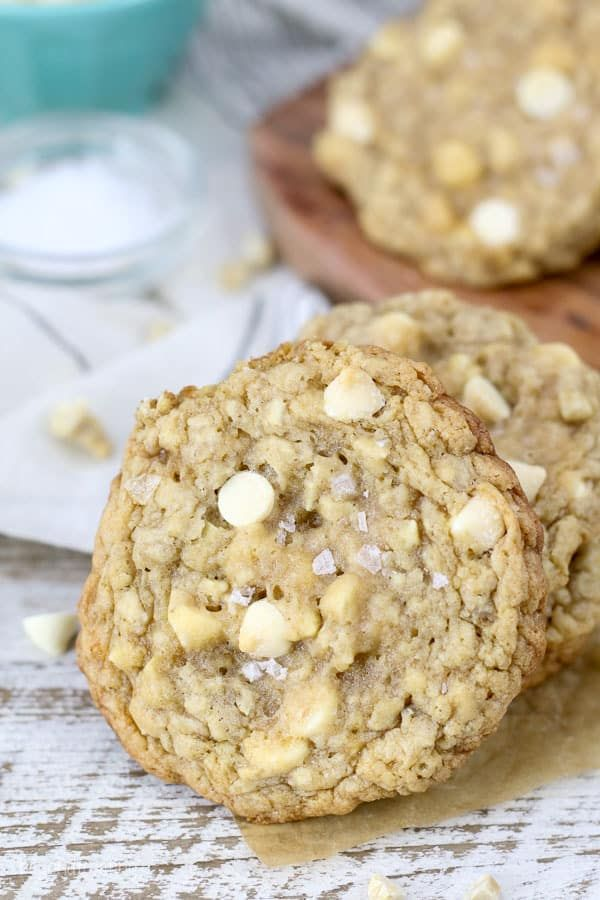Salted Caramel Cashew Oatmeal Cookies