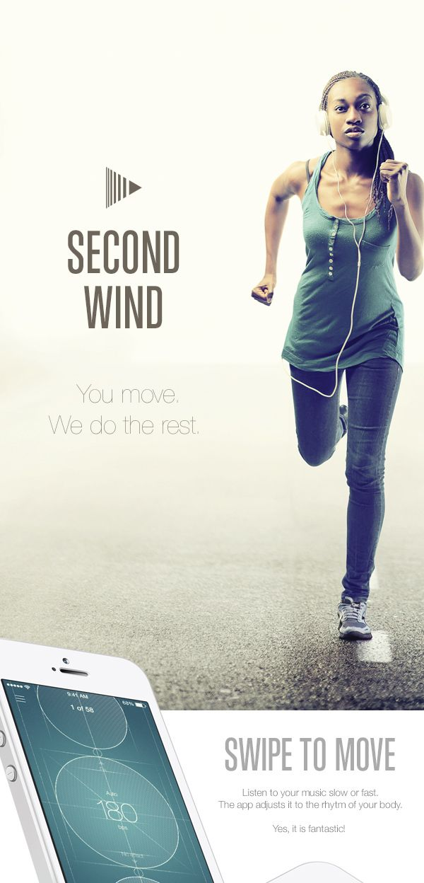 Second Wind: a Sports Music App by Begemot Begemot, via Behance