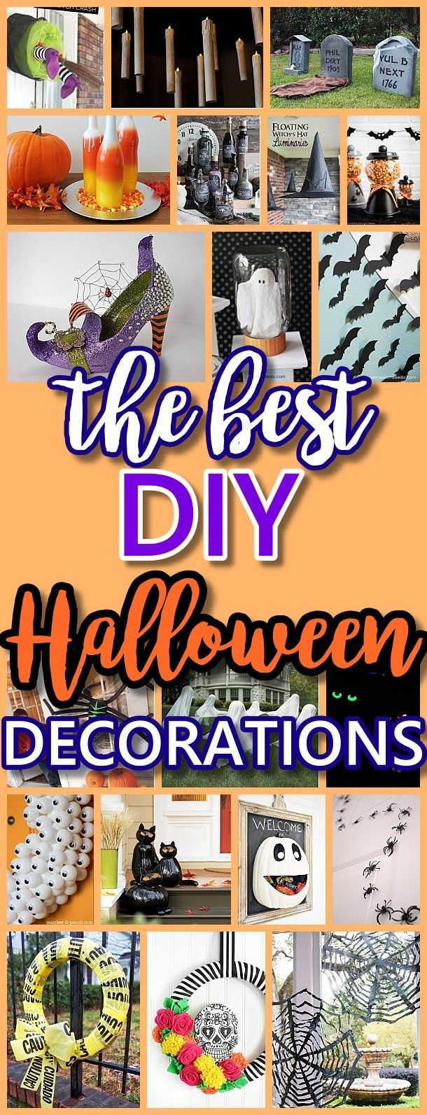 The BEST Do it Yourself Halloween Decorations {Spooktacular Halloween DIYs, Handmade Crafts and Projects!} #halloween #halloweendecorations