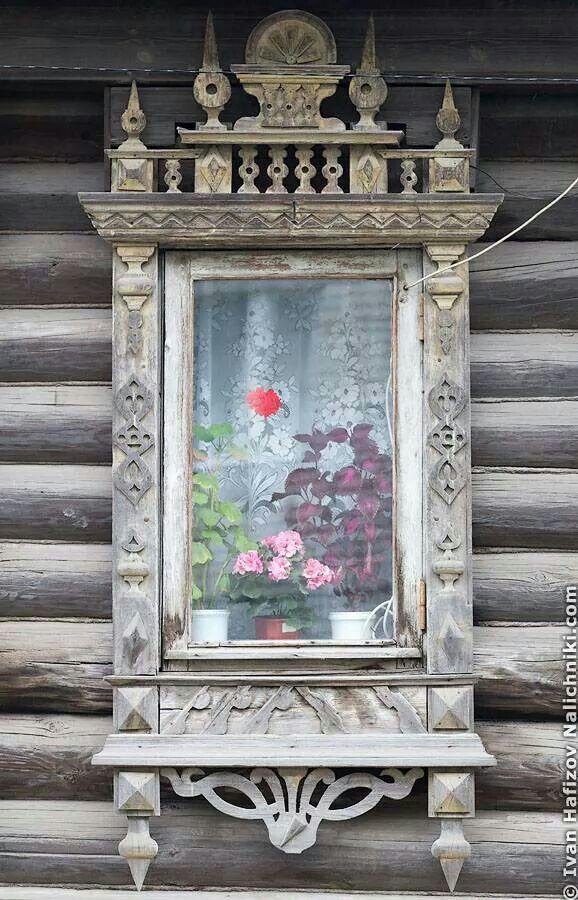 Russian Windows. Wooden Architecture