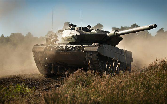 Scarica sfondi Leopard 2A6, Serbatoio, Germania, tedesco serbatoio di battaglia, un campo di Leopardo