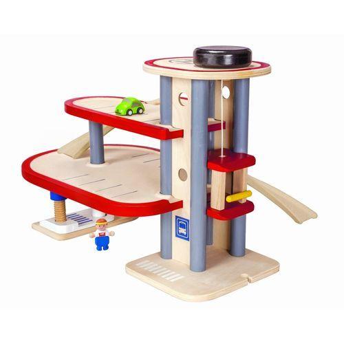 Сюжетно-ролевая игра Паркинг Plan Toys  (арт. 6227) - многоярусная парковка для игрушечных машинок с лифтом. Мальчик и его папа будут в восторге!