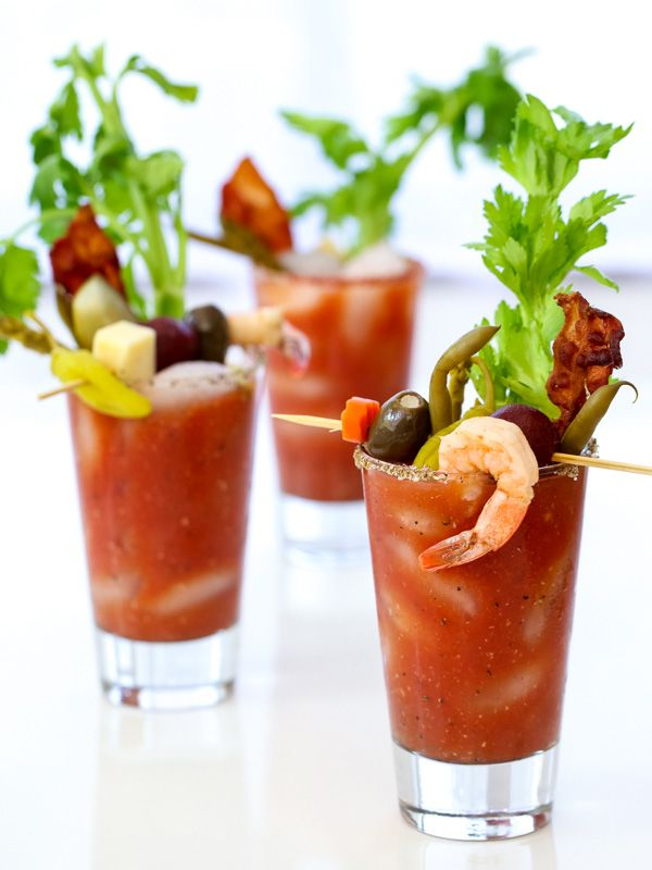 Best Bloody Mary Recipe and how to build a bloody mary bar -  from @Heidi Haugen | FoodieCrush