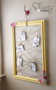 like the randomness of the string on this frame memo holder