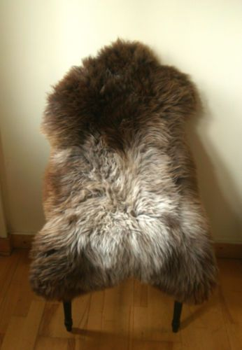 New Large Genuine Brown Taupe Grey Lamb Skin Sheepskin Real Sheep Fur Rug |  EBay