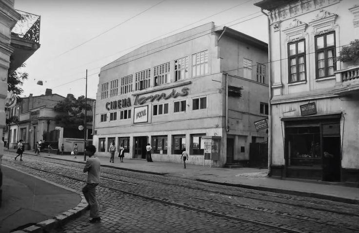 Din cinematografele disparute ale Bucurestiului. Cinema Tomis (fost Al. Sahia, fost Izbânda) aflat pe fosta Cale Vacaresti in apropiere de strada Mamulari.  Foto : Dan Vartanian
