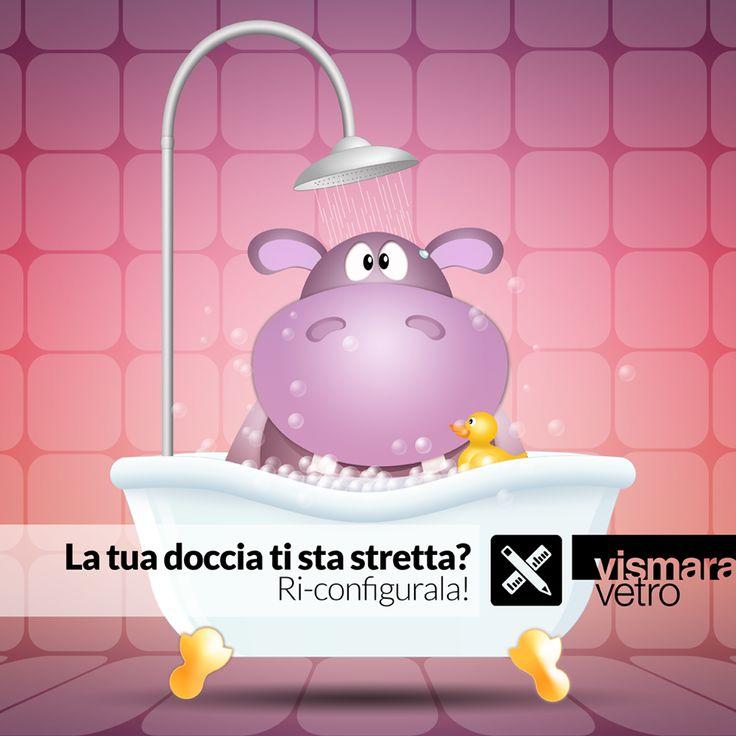 La tua doccia ti sta stretta? Ri-configurala! bit.ly/TBWCfc #vismaravetro #configuratore #cabinadoccia #design #madenitaly #boxdoccia