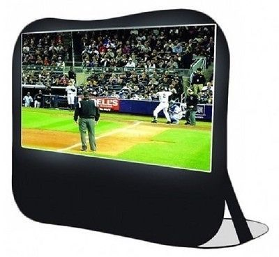 In an instant this Pop-Up Projection Screen is ready to view movies, vacation slides or power point presentations anywhere. This Movie Theater screen is durable for Indoor and Outdoor use with it's 84 Inch viewing area and 16 x 9 HD format screen. Incredibly fast setup time, less than five minutes. Included is a convenient carrying bag that can use to store it also. So, at your next Pool Party break out that new DVD everyone has been waiting to see.Free Shipping!