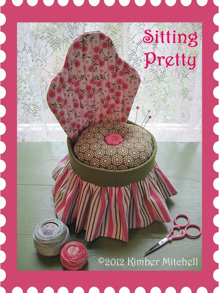 Riley Blake Designs -- Cutting Corners: SITTING PRETTY PINCUSHION  Because you can never have too many pincushions, right?: Chairs Pincushions, Pretty Pincushions, Pincushions Patterns, Sewing Box, Free Pattern, Pin Cushions, Sit Pretty, Pincushions Tutorials, Ashton Houses