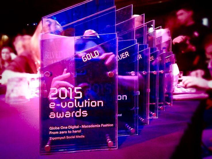 6 Awards for Globe One Digital @e-volution awards 2015