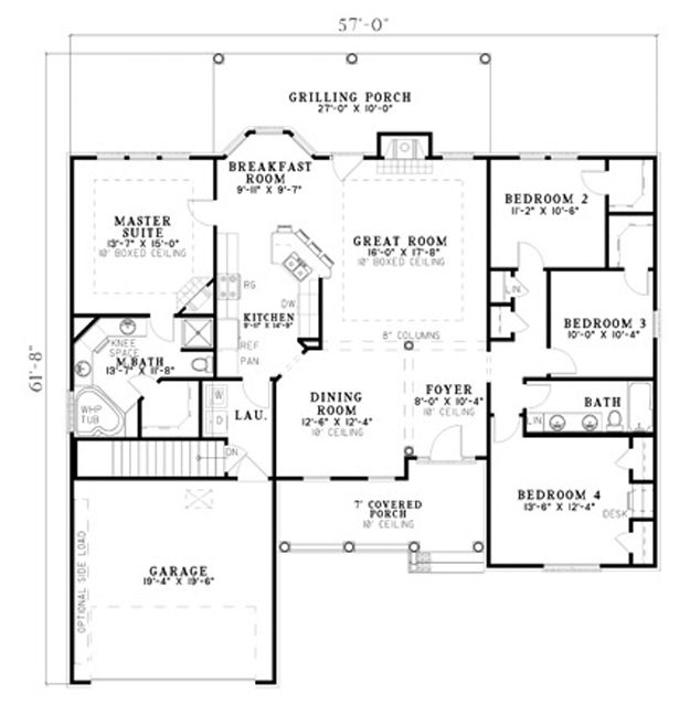 4 bedroom house plans 2200 square feet for 2200 sq ft house plans