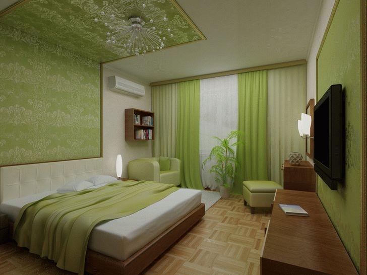 Картинки по запросу интерьер спальни в зеленых тонах