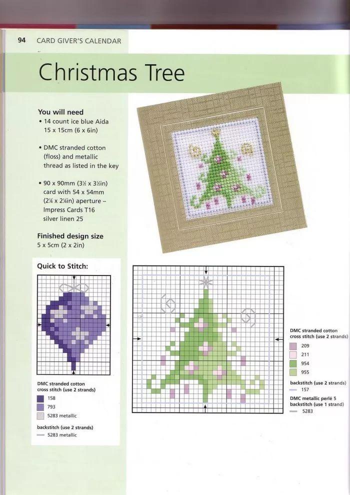 Схемы вышивка в открытках новый год, картинки