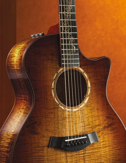 Koa Wood Taylor Guitar. <3 officially put on my wish list!