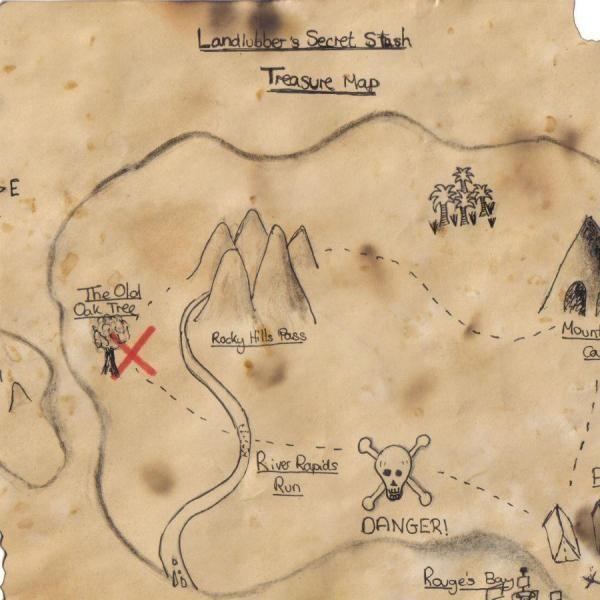 Como fazer um mapa do tesouro para crianças - 9 passos                                                                                                                                                     Mais
