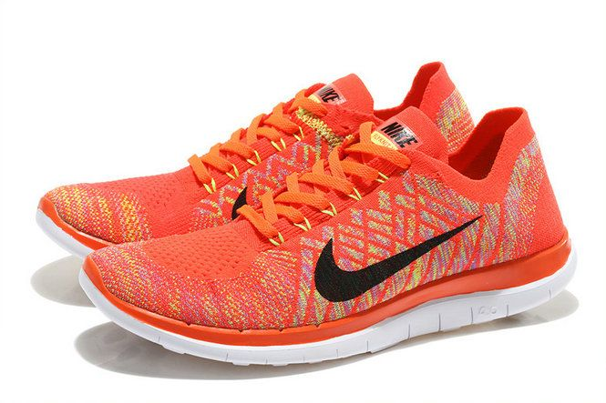 the best attitude 5f4e4 22dc7 ... clearance nike wmns free 4.0 v2 flyknit 2015 hot lava laser orange black  bright citrus 69751