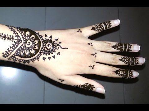 Simple Arabic Henna Easy Stylish Mehndi Tattoo Design For Beginners Youtube Henna Designs
