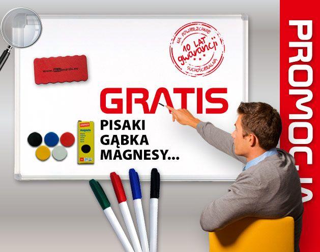 Tablica suchościeralna magnetyczna biała (rama aluminiowa EXPO) 180x100 cm ALLboards e-shop