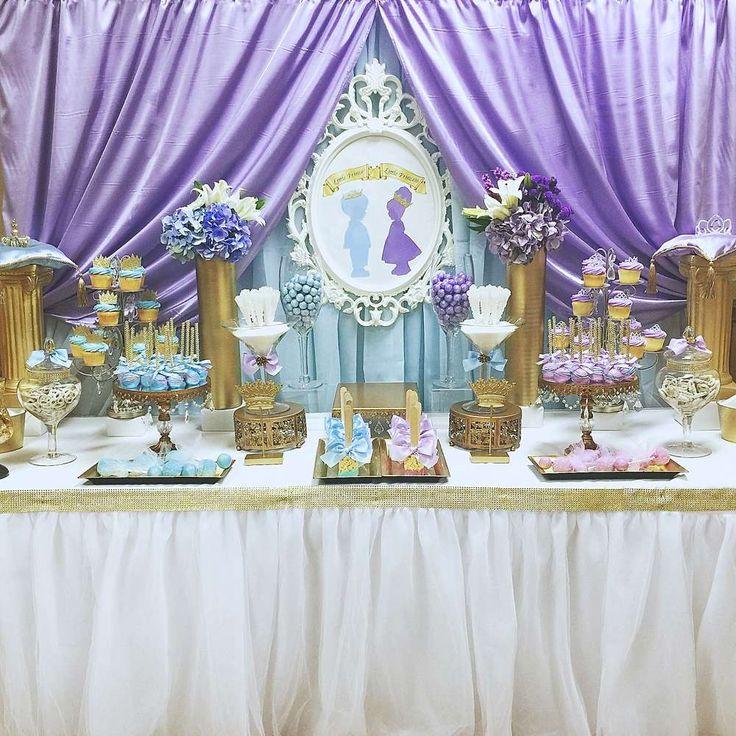 Blue and purple royal prince and princess