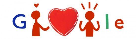 Google Doodle von heute: Valentinstag - Mehr Infos zum Thema auch unter http://vslink.de/internetmarketing