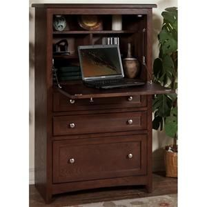 laptop armoire in cappuccino