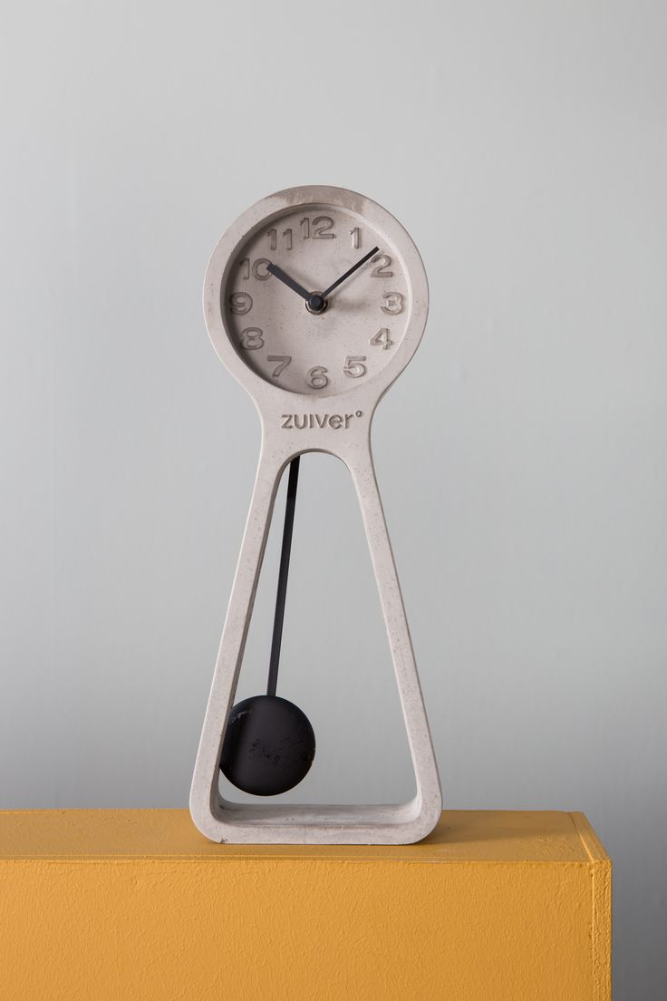 Pendulum clock time Concrete