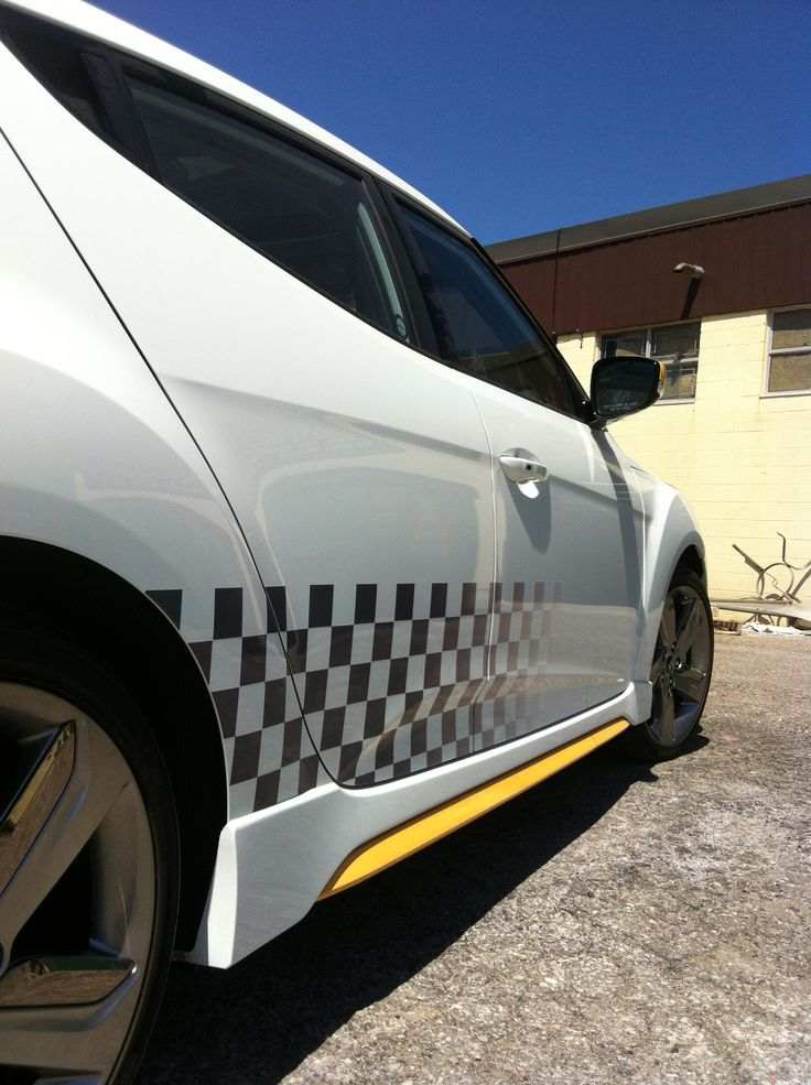 Veloster Sport Stripes. Design, Print & Install by Side Effects Graphics.