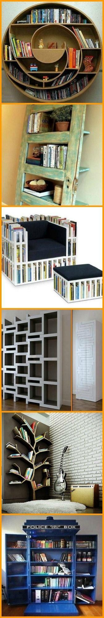 Different Bookshelves 36 best bookshelves inspiration images on pinterest | projects