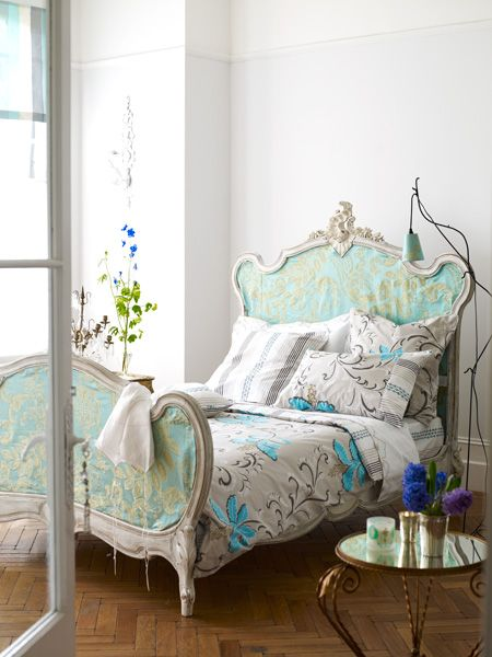 .green: Guest Room, Decor, Interior, Beds, Shabby Chic, Dream, French Country, Bed Frame, Bedrooms