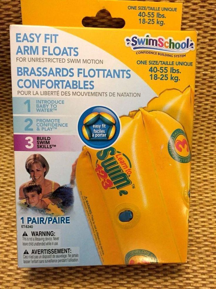 Swim School Arm Floats 40 - 55 lbs Heavy Duty Construction No Leak Air Valves #SwimSchool