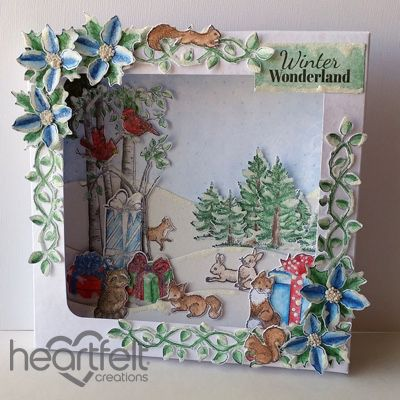 Heartfelt Creations - Winter Wonderland Shadow Box Project