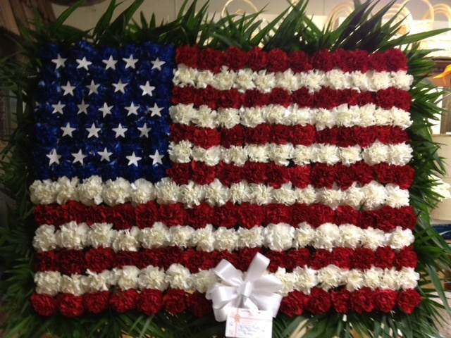 Nice, Floral and Veterans day on Pinterest |Military Funeral Flag Flowers