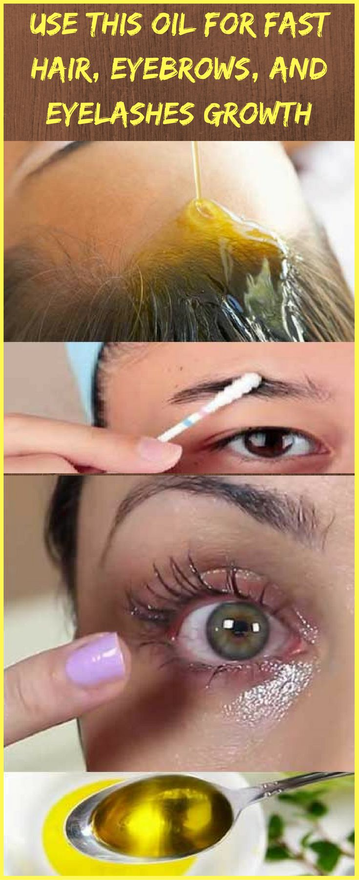 Ladies, you can use this AMAZING oil for fast hair, eyebrows and eyelashes GROWTH!