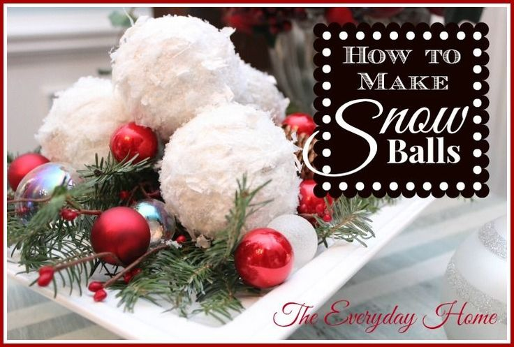 How to Make Snowball Christmas Ornaments (you Won t Believe What They