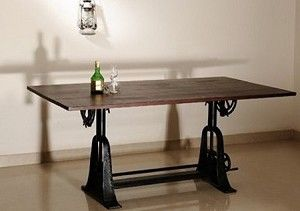 Crank Adjustable Dining Table