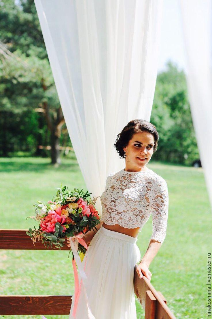 Wedding suit / Купить Свадебный наряд (топ и юбка) - бежевый, свадебное платье, свадебное платье на заказ