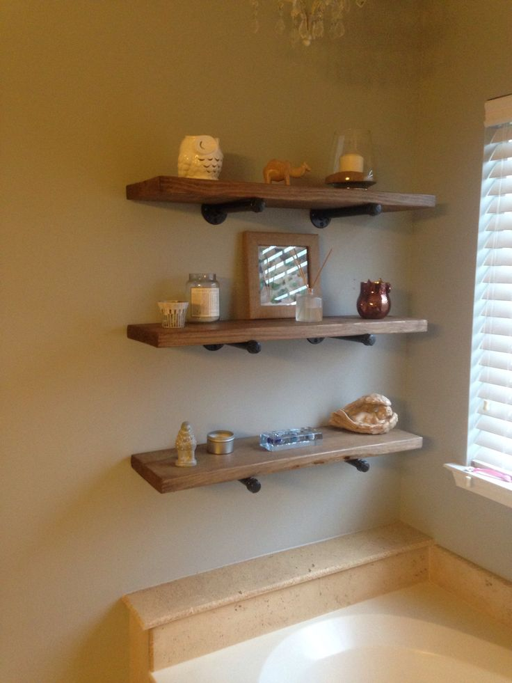 Our DIY Restoration Hardware Shelves For Our Bathroom Sarah 39 S Arts Am