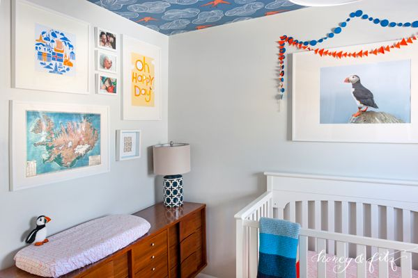 Project Nursery - Honey-and-Fitz-Benedict's-Icelandic-Blue-and-Orange-Nursery-Crib-and-Changer