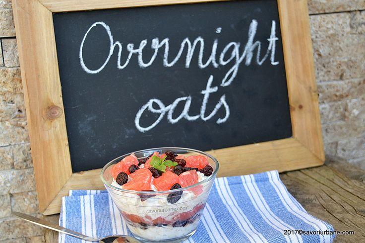 cum se face overnight oats cu grepfruit si ovaz