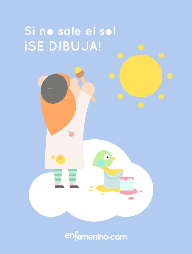 Hoy nos hemos despertado con el día lluvioso. ¡Pero no vamos a dejar que eso nos ponga tristes! #frasedeldia #lluvia #sol