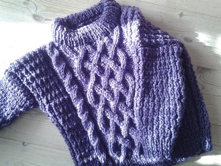 Thick and warm cable jumper for those chilly winter days