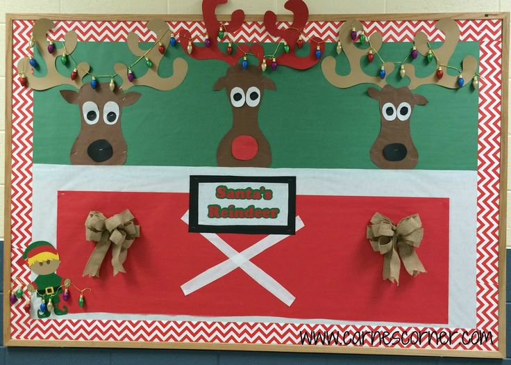 Best 25 reindeer bulletin boards ideas on pinterest for Decorating bulletin boards for work