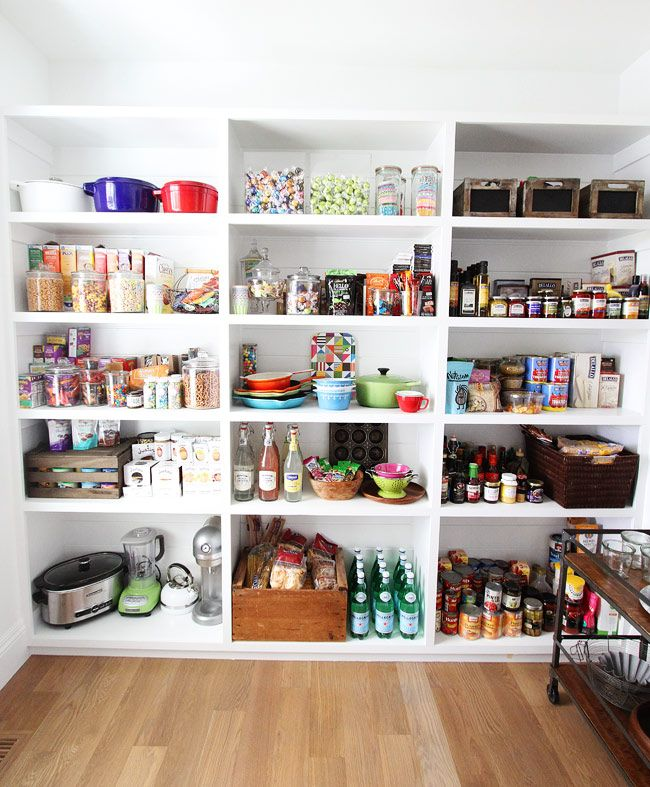 The Perfect Pantry on twopeasandtheirpod.com This pantry is a dream!