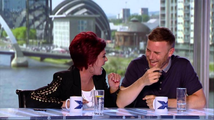 Sharon Osbourne can't stop laughing on the X Factor