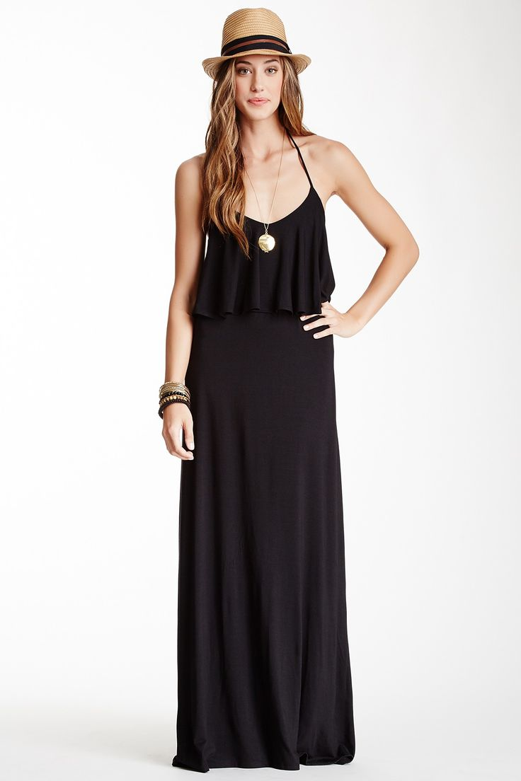 Layered Halter Maxi Dress by Go Couture on @nordstrom_rack
