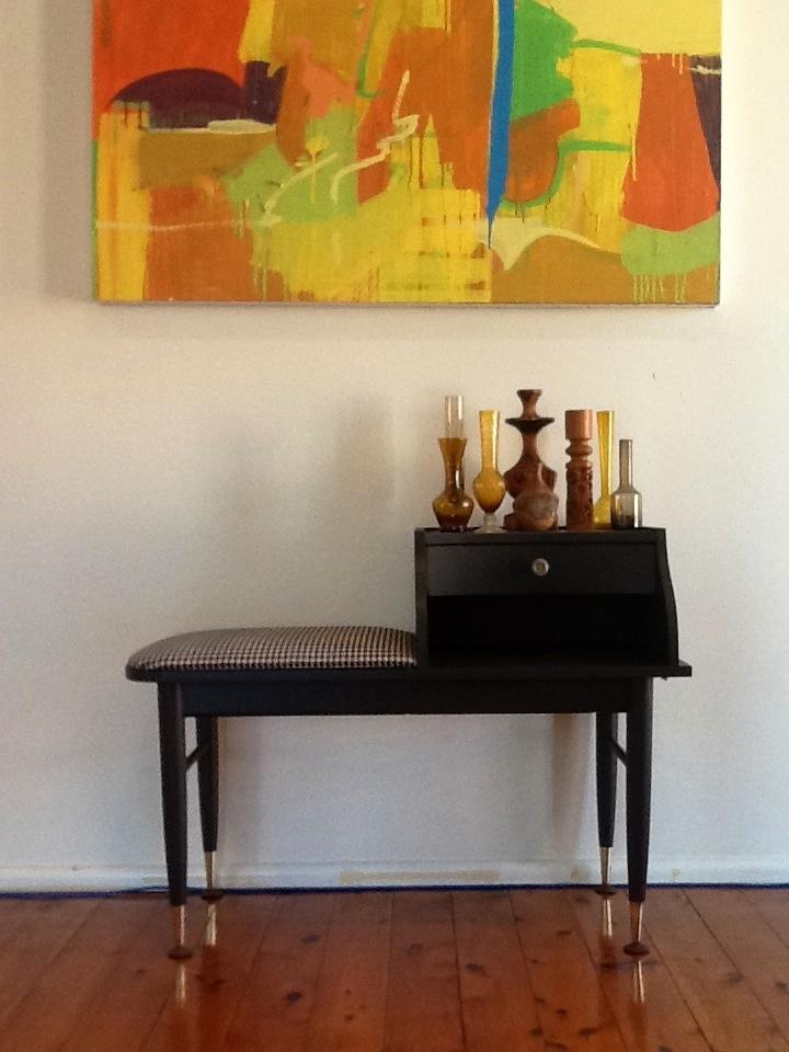 Retro phone table re-vamp   2012