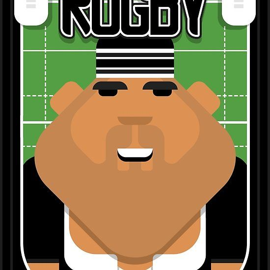 Rugby Black - Ruck Scrumpacker - Seba version